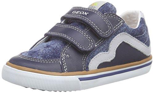 Geox B KIWI BOY B - Scarpe Primi Passi Bimbo 0-24, Blu (Jeans/Greyc4381), 24 EU