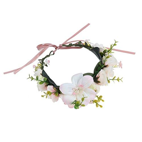 Frcolor Blumenkranz Blumenstirnband Boho für Festival Hochzeit
