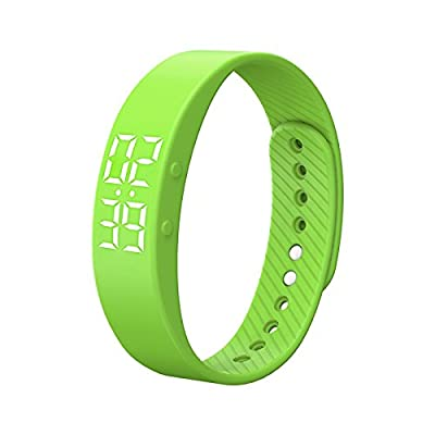 Miya T5S Smart Bracelet Watch with Vibrating Realtime Showing Waterproof Smart Wristband LED Screen Fitness Tracker Sports Sleep Smart Watch from Miya System Ltd