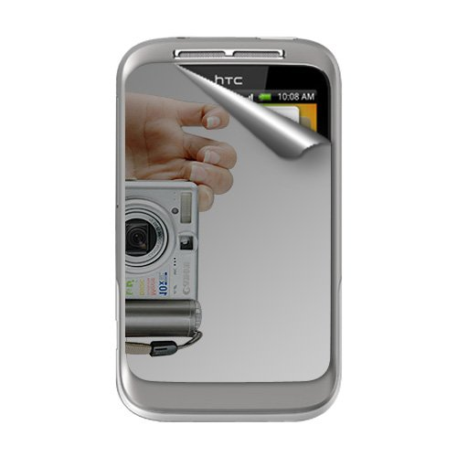 Amzer 91131 Mirror Screen Protector with Cleaning Cloth for HTC Wildfire S  available at amazon for Rs.186