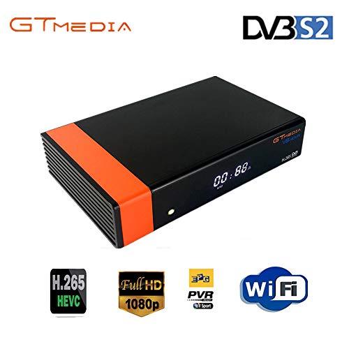 GTMEDIA V8 Nova HD-DVB-S2 Freesat Satellitenempfänger H.265 Eingebaute WiFi-TV-Box unterstützt PowerVu, DRE & Biss-Taste, DLNA, SAT-zu-IP, Unicable, Satellite EPG.