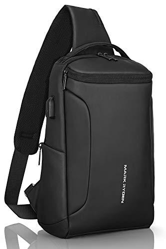 Mark Ryden Sling Bag Crossbody - Bolsas de Hombro para el Pecho, antirobo,Impermeable...