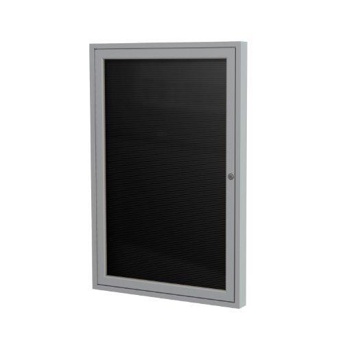 3' Vinyl (1-Door Aluminum Frame Enclosed Vinyl Letter Board, 3' x 3' Size: 24