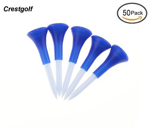 crestgolf 21/20,3cm (54mm) Coussin en caoutchouc Haut de Golf en Plastique équipement de golf Tee, Lot de 50