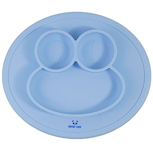 nooni-care-kids-placemat-divided-suction-plate-food-grade-silicone-toddler-and-baby-plates-serenity-