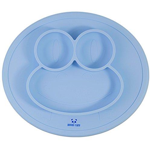nooni-care-mantel-individual-para-ninos-y-plato-adherente-con-secciones-platos-de-silicona-alimentar