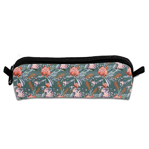Tropical Flowers in Brazilian Style Printed Makeup Pouch Cosmetics Bag Key Bag Coin Purse Stationery Case Pencil Case -