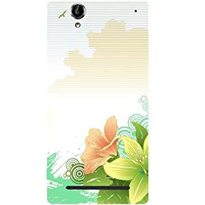 Casotec Beach Design Hard Back Case Cover for Sony Xperia T2 Ultra