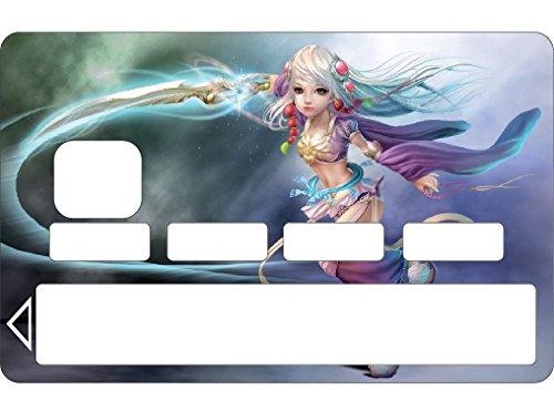 Stickersnews - Stickers Autocollant Skin Carte bancaire CB Manga 1105