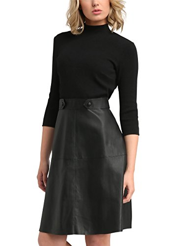 APART Fashion Damen Kleid 36876, Schwarz (Emerald-Black-Petrol-Icyblue-Leo Schwarz), 44
