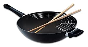 Scanpan Classic 32 cm Wok with Rack And Sticks