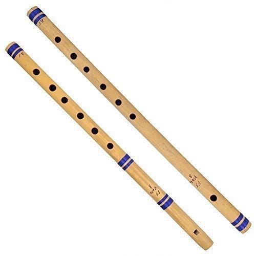 Indische Bansuri Flöte aus Bambus, 2er Set, fipple und Querschnitt, für Fans
