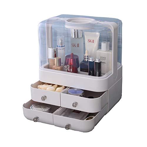 Tcbz Kosmetische Aufbewahrungsbox, Kosmetische Aufbewahrungsbox Kosmetische Aufbewahrungsbox, Kosmetische Aufbewahrungsbox für Hautpflegeprodukte für staubresistente Bürodressings (Farbe: Weiß),Weiß -