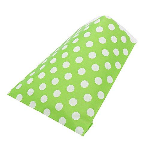 Yalulu 50 Stück Süßigkeiten Papiertüten Party Beutel Süßes Geschenk Taschen Tüten für Geburtstag, Hochzeit, Baby- Dusche, Feier Parteien (Grün) (Geschenk-taschen Für Baby-dusche)