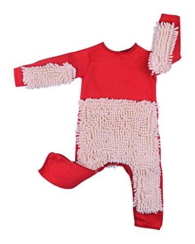 Entzückend lustiger  Baby Wischmopp Strampler Overall Baby Geschenke Farbe blau Größe 80