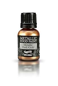 Rainbow Dust Métallique Colorant Alimentaire Peinture Comestible Pour Décoration de Gâteau - Or Foncé