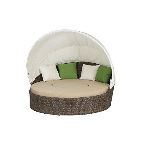 Preisvergleich Produktbild Siena Garden 104786 Lounge-Set Oase, cappuccino Sitzkissen in beige, L 155B 185 xH 53cm