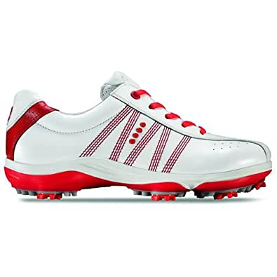 Ecco Comfort Swing Ladies Golf Shoes White Poppy