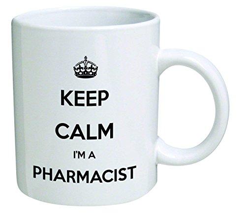 Funny Mug - Keep Calm I'm a Pharmacist - 11 OZ Coffee Mugs - Inspirational gifts and sarcasm - French White-mug