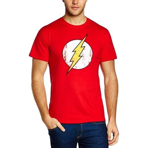 DC Comics - Camiseta de Flash con cuello redondo de manga corta para hombre