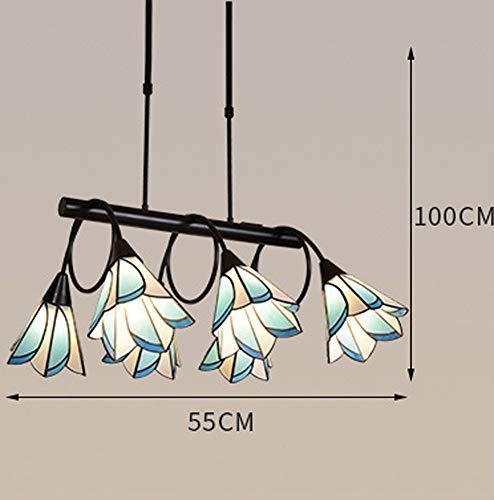 SMGHF stile Mediterraneo Lampadario soggiorno lampada blu americano lampade bohemien casa atmosfera Indoor lampada Tiffany, E27