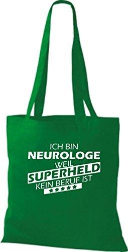 Borsa di stoffa SONO neurologe, WEIL supereroe NESSUN lavoro è Kelly