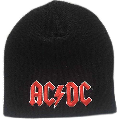 AC/DC Mütze Beanie Classic Rot 3D Band Logo Hells Bells Nue offiziell - Dc-mütze