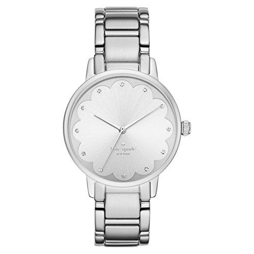 Kate Spade–ksw1046–Orologio da donna–quarzo analogico–Quadrante argento–Bracciale Acciaio Argento