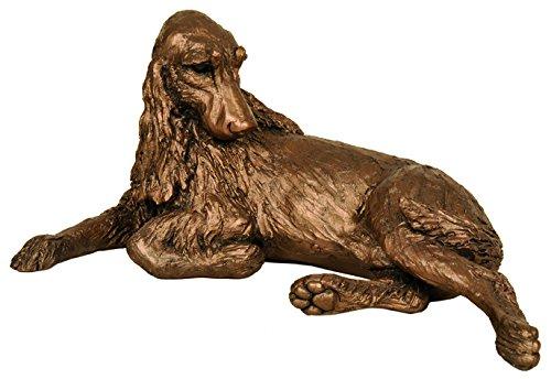 Monty Springer Spaniel-Anhänger aus bronze, Skulptur von Harriet Dunn