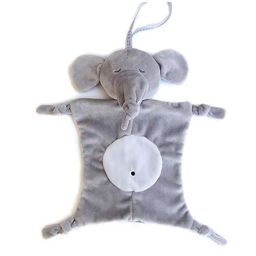 (0Miaxudh Baby Tröster Spielzeug, Cartoon Panda AFFE Puppe Neugeborenen Tröster Kuschel Beruhigende Lätzchen Handtuch Spielzeug Elephant)