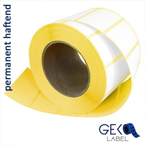 Thermo Versandetiketten 105mm x 148mm | permanent haftend | 500 Etiketten je Rolle | 76mm Kern | außengewickelt | abreißbar nach jedem Etik. | DHL, GLS, UPS |