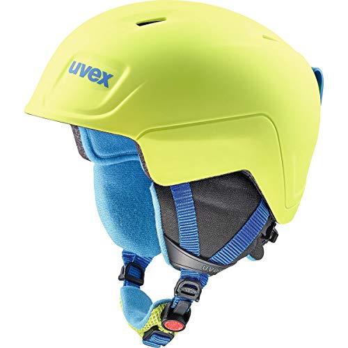 Uvex Kinder Manic Pro Skihelm, Lime-Blue met mat, 51-55 cm