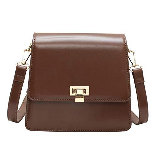 WAWST Borsa piccola fibbia fibbia fibbia con decorazione borsa tracolla piccola borsa quadrata morbida borsa tendenza moda C 19x9,5x18 cm