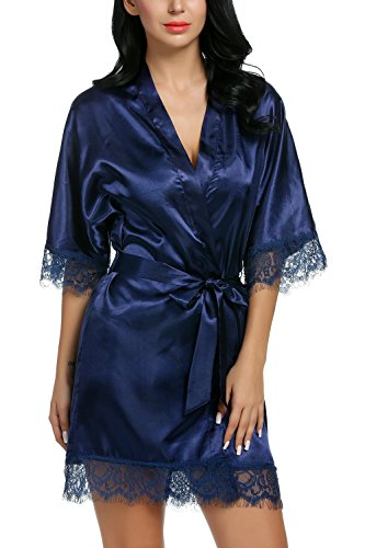 Avidlove-Womens-Pure-Color-Kimono-Robes-Satin-Nightwear-Bridesmaids-Short-Style