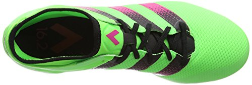 adidas Ace 16.2 Primemesh Fg/Ag, Chaussures de Football Homme Vert (Solar Green/Shock Pink/Core Black)