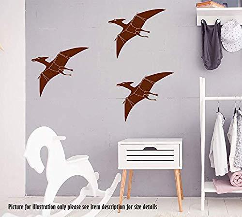 Pterodactyl Dinosaurier Wandaufkleber, Dino Wandtattoo, Kinder Kinder Schlafzimmer Spielzimmer Dekor, Jurassic Welt Kindergarten Vinyl Wandkunst Aufkleber (Decals Kinder-spielzimmer)