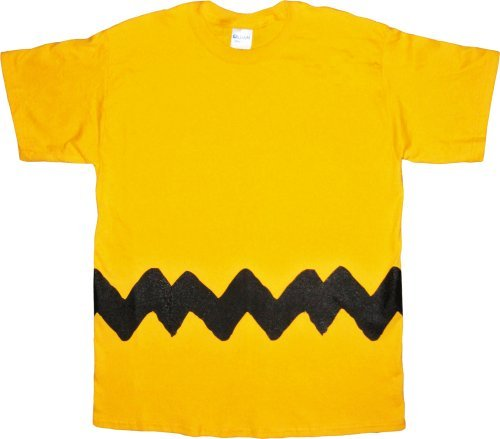 Peanuts Charlie Brown Costume T-Shirt (Adult (Kostüm Charlie Brown)