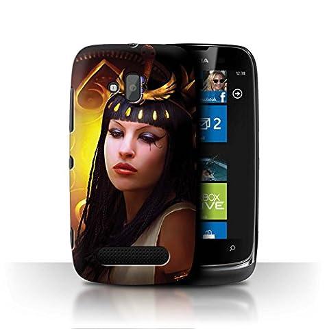Officiel Elena Dudina Coque / Etui pour Nokia Lumia 610 / Cleopatra/Serpent Doré Design / Les Animaux Collection