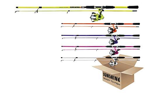 Jenzi Allround-Rute Spinrute 'Sunshine' inklusive Rolle & Schnur 1,20 m in 5 verschiedenen Farben erhältlich
