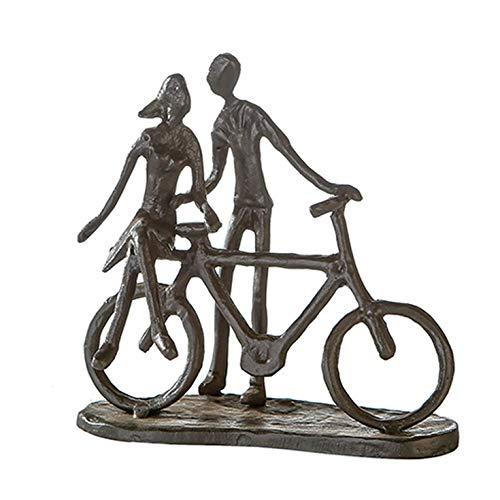 Casablanca 74610 Design Skulptur Pair on Bike - Paar auf Fahrrad - Gußeisen brüniert 15 x 15 x 8 cm (Bike-skulptur)