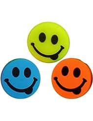 3 Smiley Emoji Tennis Dampener Antivibrateurs colored