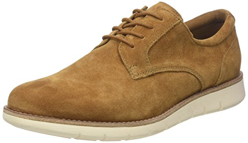 Shaft Club, Zapatos de Cordones Derby para Hombre, Azul (Azul/Camel 05), 41 EU Schmoove