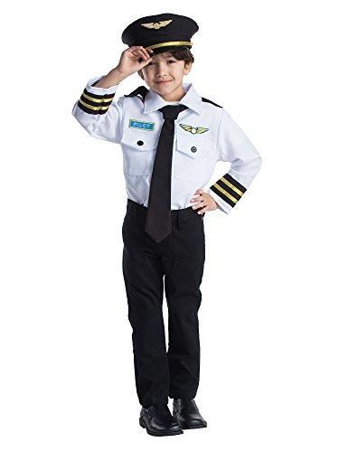 Airline Kostüm Piloten Kind - Dress Up America Airline Pilot Rollenspiel Kostüm für Kinder von 3-6 Jahren