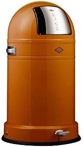 Wesco 178 731-25 Poubelle à pédale Kickboy Classic Line (Orange)