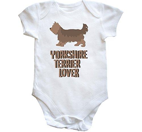 Hippowarehouse Yorkshire Terrier Lover Dog Baby Vest Bodysuit (Short Sleeve) Boys Girls
