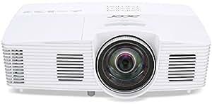 Acer S1383WHne Proiettore, Risoluzione WXGA, Contrasto 13.000:1, Luminosità 3200 ANSI, VGA/HDMI/MHL, Bianco