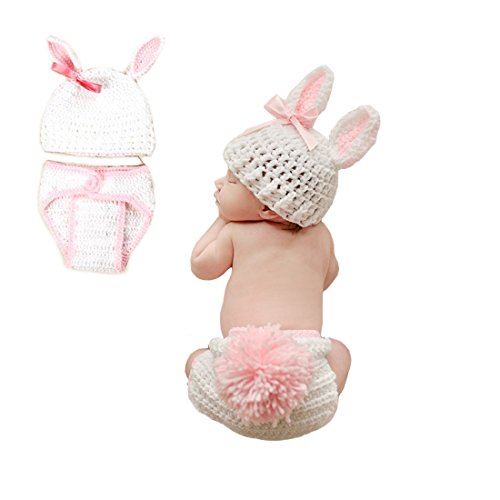 tfits, Baby Kostüm, Neugeborene Baby Kostüm Tier Weiße Hase 0-3 Monate (Tier-outfits)