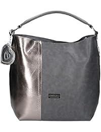 Chiara Design Modisch Umhängetasche crossbody Reißverschließbare Handtasche,  moderne Schultertasche aus PU Leder, Henkeltasche für 0e58901050