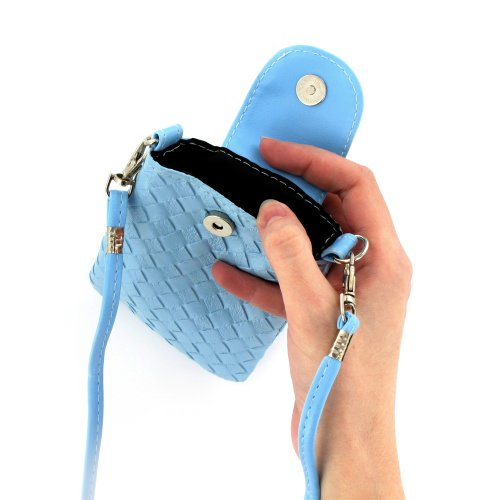 Ultraflache harte Schutzhülle APPLE IPHONE 4 [Le Pearls Premium] [Grun] von MUZZANO + 3 Display-Schutzfolien UltraClear + STIFT und MICROFASERTUCH MUZZANO® GRATIS - Das ULTIMATIVE, ELEGANTE UND LANGLE Lagunenblau + 3 Displayschutzfolien