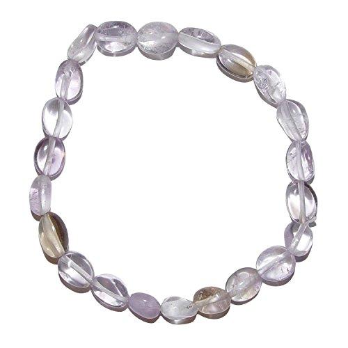 Ametrin Armband aus polierten kleinen Edelsteinen ca. 6 - 10 mm, auf elastischem Band, schöne klare Struktur.(3566)